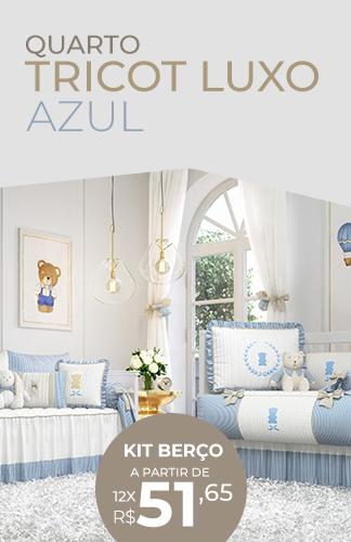 Coleção Tricot Luxo Azul