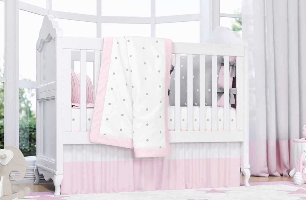 manta de tricot poá rosa