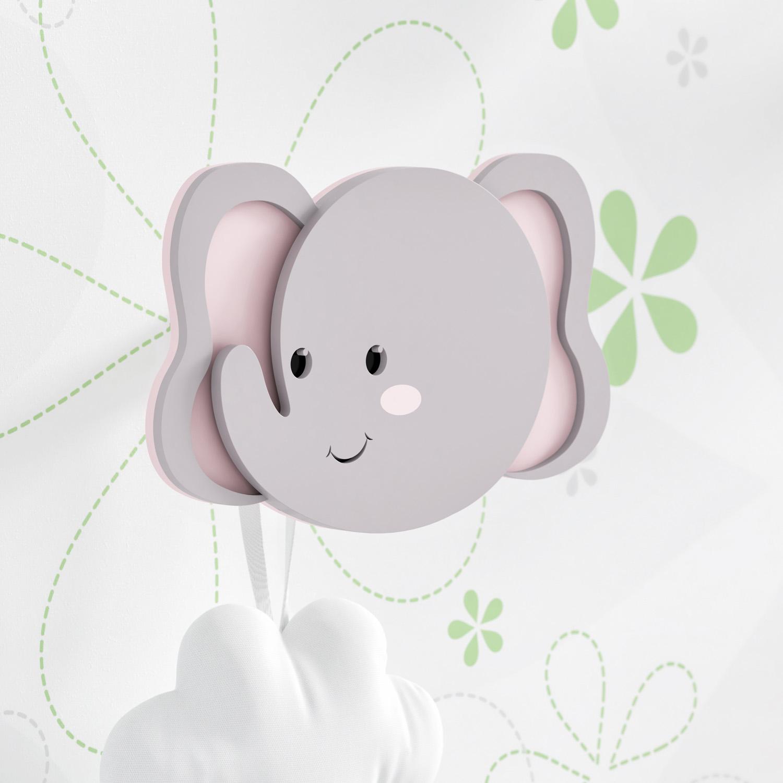 quarto de bebê de elefantinhos