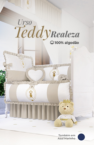 Urso Teddy Realeza Bege