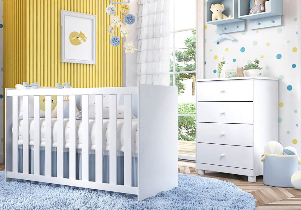 quarto de bebê compacto