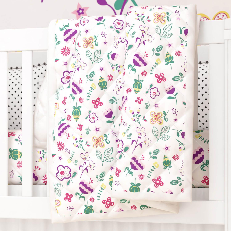 Edredom de Berço Floral Moderna Ref: 94402