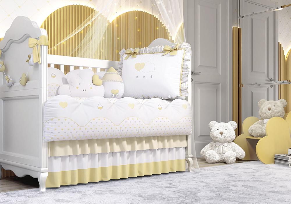 quarto de bebe chuva de amor amarelo
