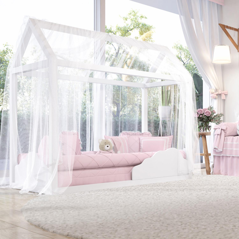 quarto de bebê rosa clássico