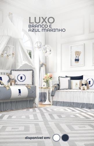 Coleção Luxo Branco e Azul Marinho