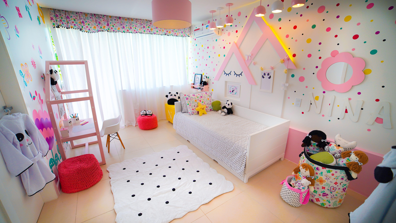 quarto infantil floral moderna