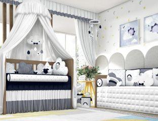 quarto de bebe nuvem
