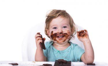 bebê pode comer chocolate