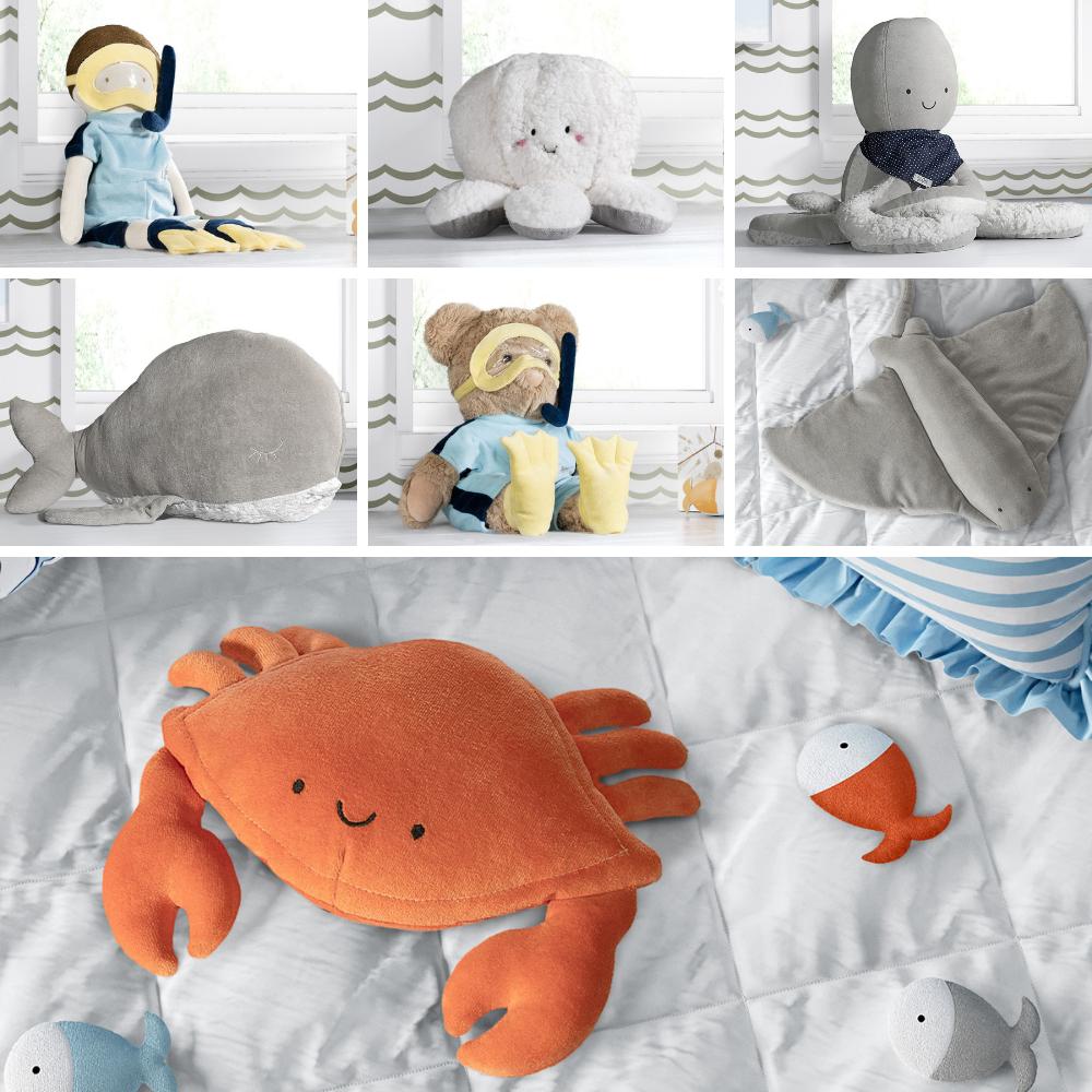 quarto de bebê fundo do mar