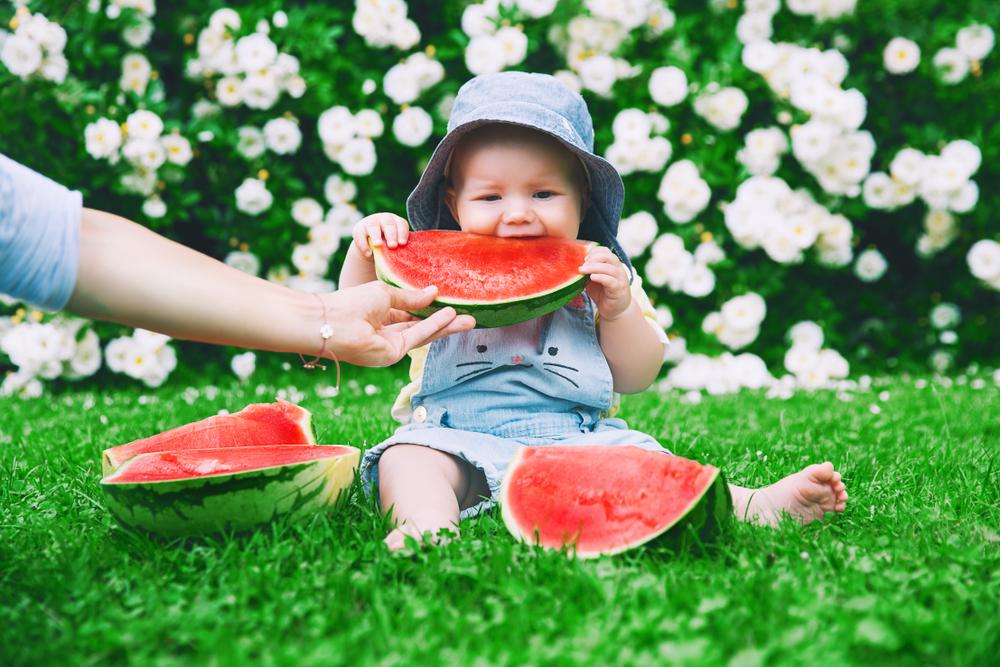 fruta para bebê