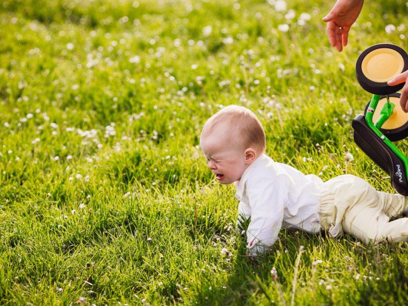 Bebê bateu a cabeça