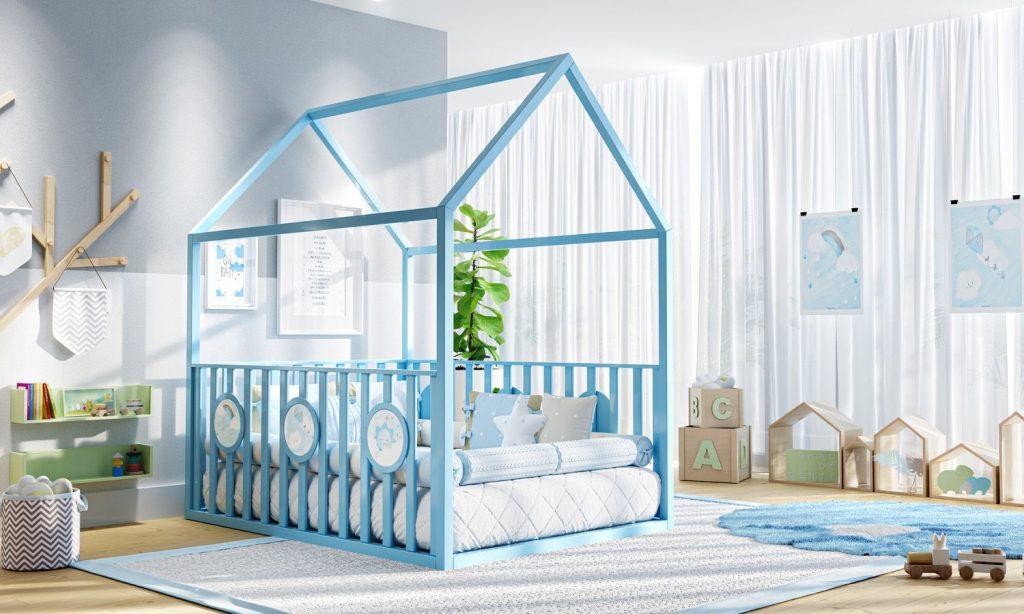 cama-casinha-montessoriana-padrao-casal-com-grade-azul-284578