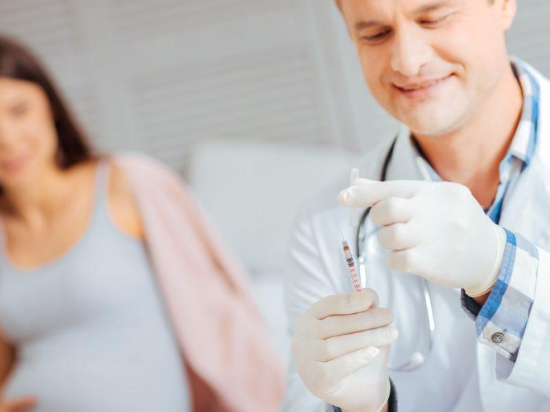 Injeção para amadurecer pulmão do bebê