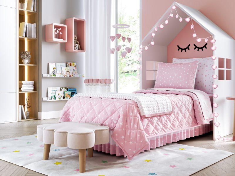 kit cama infantil estrelinhas