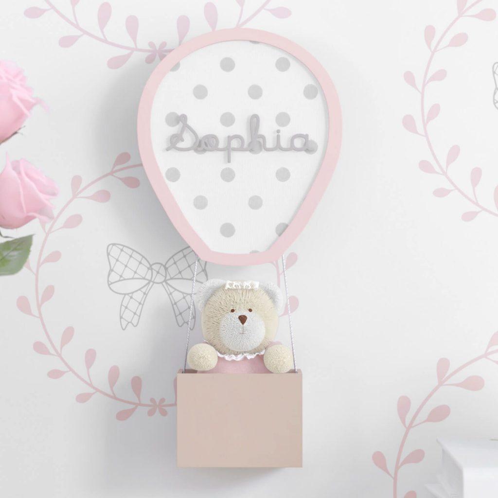 nome do bebê na decoração