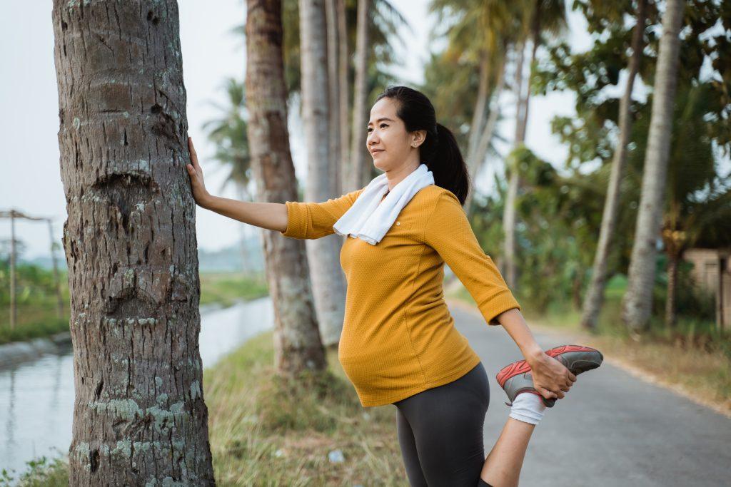 caminhada na gravidez