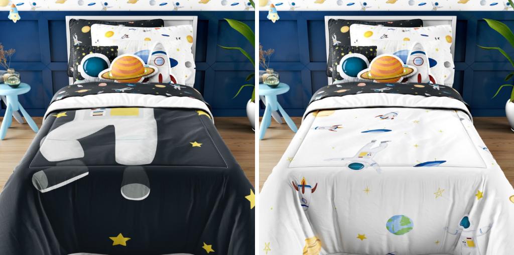 Tema espacial: quarto infantil astronauta