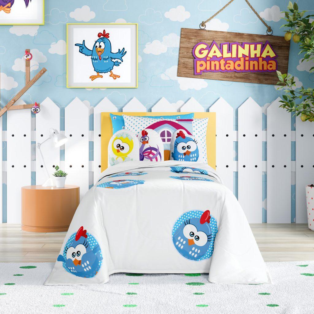 Galinha Pintadinha para todas as idades: kit cama infantil